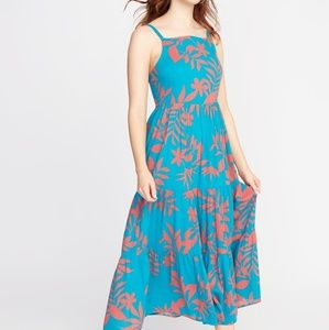 Old Navy Blue Floral Maxi Dress